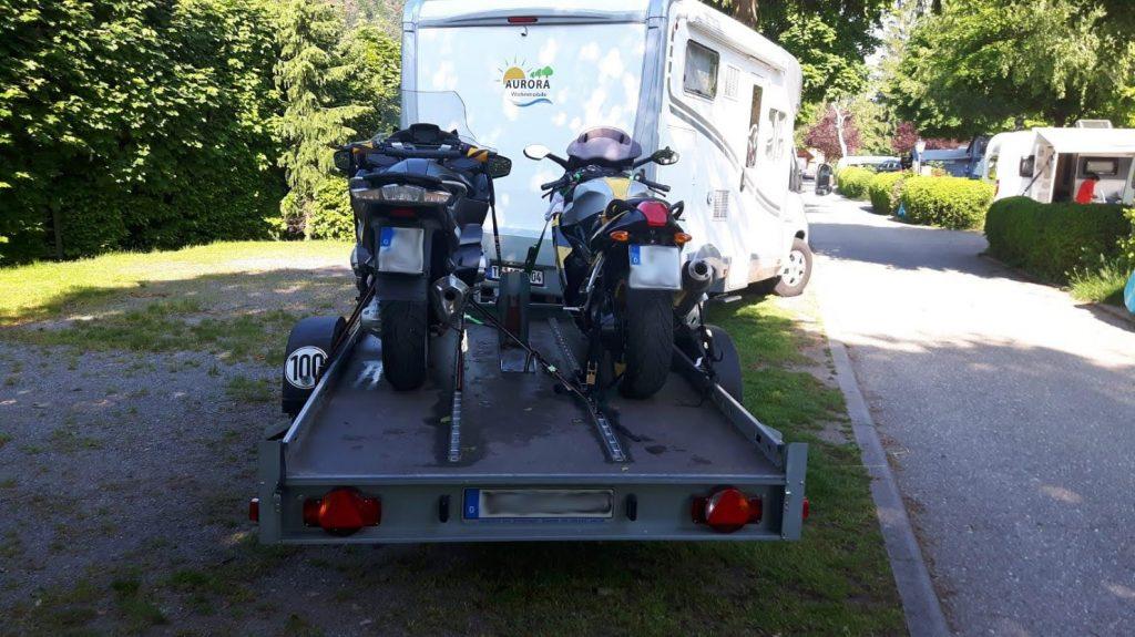 Motorradanhänger für 3 Motorräder