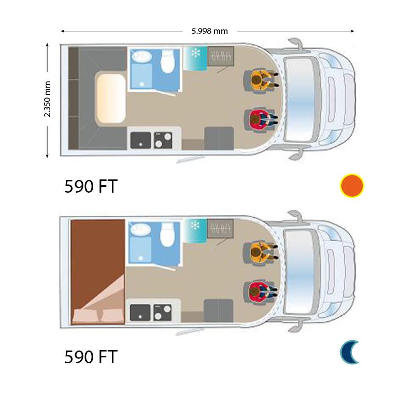 ILUSION 590 FT XMK Grundriss U-Lounge