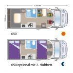 ILUSION 650 XMK Grundriss U-Lounge